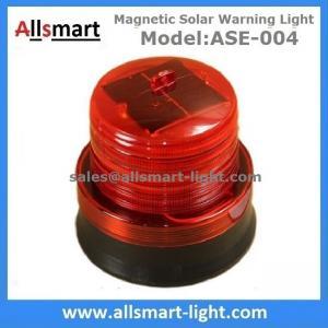 China 4LED Red Flash Solar Powered Magnet Signal Lights Traffic Barricades Lamp Solar Metro Construction Blink Led Lighting wholesale