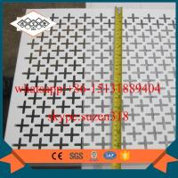 Quality decorative pattern aluminum perforated panel lowes perforated sheet metal for sale
