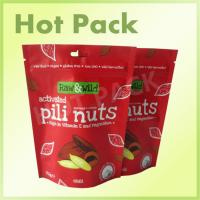 70g Nuts Stand Up Barrier Pouches , Tear Notch Flexible Pouch Packaging