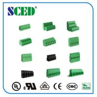 China 12 Poles Electronic Green pcb terminal block connector PA66 Pitch 2.54mm on sale
