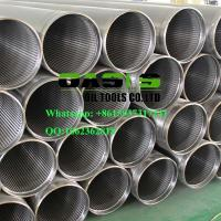 China APT STC thread end wire wrapped continuous slot Johnson water well screens pipe wholesale