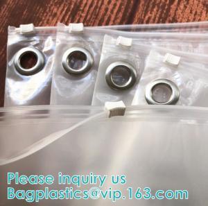 China Custom Transparent PVC Slider Zip Lock Bags Frosted EVA Zipper Packaging Bag For Garment,Self Zip Lock Apparel Packaging wholesale