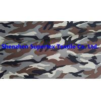 China Polyester Oxford Paper PU Breathable Coated Fabric Camo Print Leisure Military Uniform 300D 150GSM wholesale