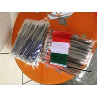 China Digital Printing Knitted Custom Hand Waving Flags With Plastic Poles wholesale