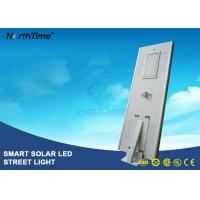China 8000LM Wireless All In One Pole Solar Powered Road Lights With Bridgelux LED Chips wholesale