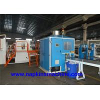 China Carton Box Packing Facial Tissue Production Line With Log Saw Cutting Machine wholesale