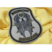 Buy cheap Custom Flag 3D Born To Be Mild Logo Embroidered Neck Patch Reusable from wholesalers