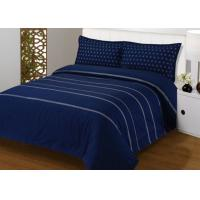 China 4Pcs Blue Bedding Sets , 100% Cotton Diamond Embroidered Navy Simple Bedding Sets wholesale