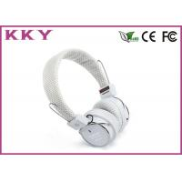Quality Bluetooth Stereo Earphones White Color , Bluetooth Music Headphones BH05 for sale