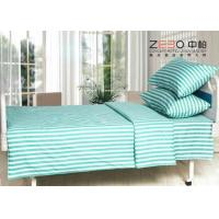 China Different Color Striped Fitted Bed Sheets , Cotton Flat Sheets BS-10 wholesale