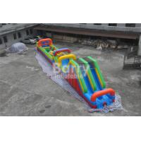 China Long 3 parts Bouncy Castle Obstacle Course equipment for adults and kids wholesale