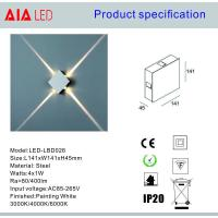 Quality Square inside 4x1W comptitive price IP20 modern LED wall light /LED decoration for sale