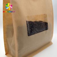 Quality Window Kraft Paper Bags Zipper Top Sealing Customized Color For Food Packaging for sale