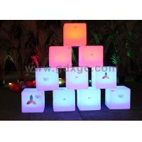 China Waterproof LED ottoman cube Glow Chair with huge capacity rechargeable lithium battery wholesale