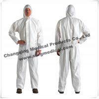 China Surgical Resistant Disposable Hooded Coveralls Different Collar Waist Design wholesale