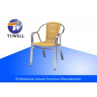 China Double Anti-UV Tube Aluminium PE Wicker Rattan Chairs For Commercial wholesale