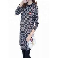 China Striped Pattern Maternity Knit Sweater Loose Fit Type Polyester / Cotton Material wholesale
