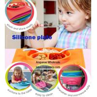 China Wholesale OEM color Christmas gift Toddler Kids Baby Boy and Girl Silicone Placemat wholesale