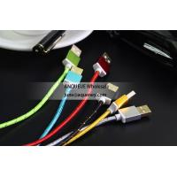 China NEW HOT Factory directly  nylon braided 1.5M USB data sync charger cable, charge line wholesale