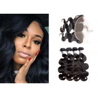 China Natural Body Wave Bundles With Frontal / 10A Brazilian Bundles With Frontal wholesale