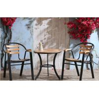 China Stackable Outdoor Cast Iron Steel Dining Chairs With Plastic Soft Mats wholesale