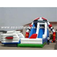 China Creative Inflatable Slide In Robot Shape For Children Sliding Games wholesale