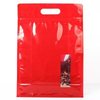 Buy cheap Red Color Stand Up Ziplock Bags Food Grade Material For Potato Cracker from wholesalers
