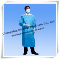 China Sterile Surgical Gown Fluid Resistant Lab Coats Surgeon Protection With Knit Sleeves wholesale