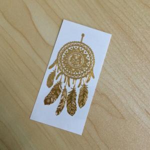 China Dream Catcher Body Gold Foil Tattoo Sticker on sale