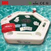 Buy cheap Plastic Outdoor Amusement Equipment Luminous Swimming Pool Floating Poker Table from wholesalers