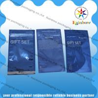 China Transparent Front Comestic Packaging Bag Laminated With Bottom Gusset wholesale