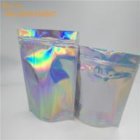 China Custom printed hologram plastic bag with zipper  holographic plastic bath salt bag holographic plastic bag for cosmetic wholesale