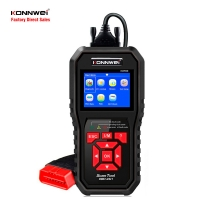 China KONNWEI KW850 ODB2 Auto Diagnostic Scanner One-click Remote Update life time free 2.8 inch TFT color screen on sale
