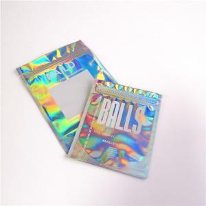 China Hologram Mylar Ziplock Cosmetic Packaging Bag PET / Hologram Film Material wholesale