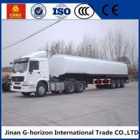 Buy cheap 8X4 Oil Tank Truck Trailer / Fuel Tank Semi Trailer Q325 Steel Material from wholesalers