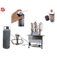 China Semi Automatic Aerosol Filling Machine for Carburetor Cleaning Agent Can wholesale