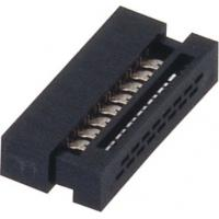 China 1.27mm 16 Pin Idc socket  Connector PBT black  30%GF UL94V-0  ROHS wholesale
