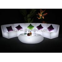 China New modern Outdoor garden plastic colored sofa set with remote control wholesale