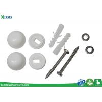 China Stainless Steel Toilet Closet Bolts Cross Headed With PP Decoration Cap wholesale