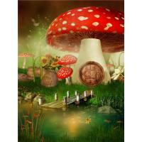 China Crystal Surface Decorative Wall Panel Sheets Red Mushrooms Pattern Anti Water wholesale