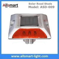 China 6 LED Solar Road Studs Solar Driveway Warning Lights Solar Highway Marker Lights Pedestrian Crossings Warning Lights wholesale