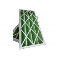 China Rigid Pleated Panel Air Filters , Clean Room Pre Filter G1 - G4 With Cardboard Frame wholesale