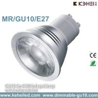 China Dimmable 5W GU10 COB spotlight with 60° Beam angle 110-220V wholesale