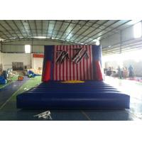 China Exciting Inflatable Interactive Games , Commercial Grade Inflatable Sticky Wall wholesale