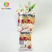 China Mylar Laminated Plastic Pet Food Pouch Custom Glossy Surface With Clear Window wholesale