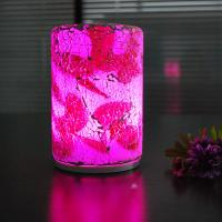 China Fashionable  crack pattern intelligent remote glass 90*140mm size LED table lamp. wholesale