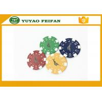 China Casino Borad Game 11.5 Gram Customised Poker Chips With Foil Stamping Sticker wholesale