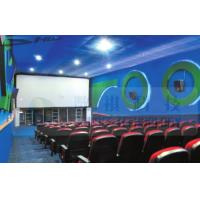 China 4D Cinema Equipment Electric Pneumatic 3 Seat / 4 Seat Motion Chairs Leather wholesale
