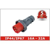 China 3 Phase16A 32A Industrial Plugs And Socket In Pin And Sleeve Connectors wholesale