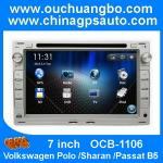 China Ouchuangbo Radio GPS DVD Multimedia Kit Volkswagen Polo Sharan Passat B5 Angola free map wholesale